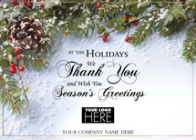 Fresh and Fragrant Holiday Logo Cards